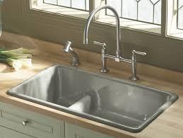 Cast Iron Kitchen Sinks Kohler Kka Whitehaven Apron Front - American standard cast iron kitchen sinks
