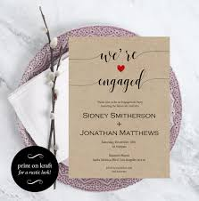 engagement party invitation wedding template we u0027re engaged