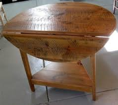 Drop Leaf End Table Drop Leaf Tables Built To Order From Reclaimed Wood Ecustomfinishes