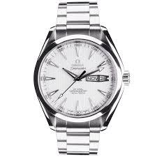 omega bracelet images Pre owned omega seamaster aqua terra 43mm silver dial bracelet watch jpg