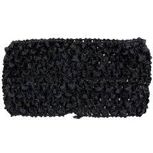 crochet headbands black crochet headband 2 75
