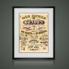 the lords prayer poster matted and framed free shipping