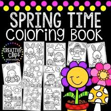 spring coloring pages creative clips clipart tpt