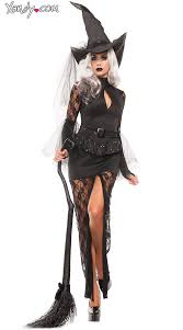 Sexiest Costumes Halloween Glam Witch Costume Costume Black Lace Witch Costume