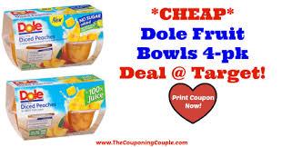 dole fruit bowls target or publix cheap dole fruit bowls 4 pk deal