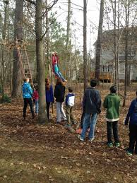 Backyard Zip Line Without Trees by House Of Estrogen Christmas
