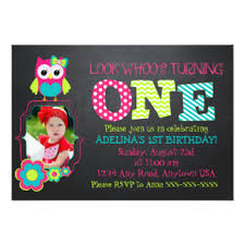 owl 1st birthday invitations u0026 announcements zazzle
