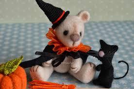 halloween glass beads luke halloween miniature needle felted teddy bear with mr scary