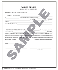waiver of lien template 233 waiver of lien dup package of 50 builder s book inc