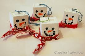 diary of a crafty lady snowman block ornaments kids u0027 craft