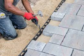 Snap Together Patio Pavers by Snap Edge Paver Restraint Sek Surebond Hardscape Installation