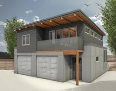 modern garage apartment 062g 0081 2 car garage apartment plan with modern style 2 car