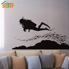 home decor group aliexpress com buy dctop a group of fish and scuba diving wall