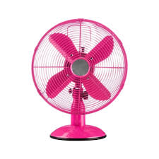 Small Oscillating Desk Fan Buy Pink Oscillating Metal Desk Fan From Fusion Living