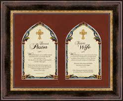 christian brands pastor and pastor s framed wall brown