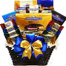 chocolate gift basket ghirardelli chocolate gift basket gourmet