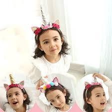 retro hair accessories korea high quality made unicorn flowers retro hair