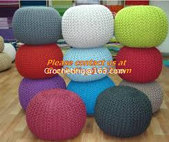 knitted pouf ottoman knitted pouf straw cushion tatami mat