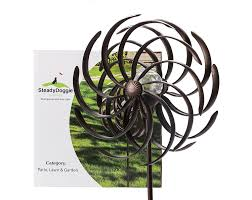 Kinetic Garden Art Garden Wind Spinner Yard Windmill Multi Color Kinetic Solar