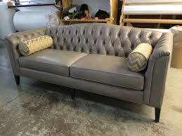 Grey Leather Tufted Sofa Tufted Leather Sofa Canada Www Redglobalmx Org