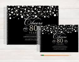 50th anniversary guest book personalized birthday guest book etsy