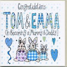 new mummy and personalised congratulations card by
