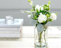 Artificial Flower Decorations For Home Flower Arrangements Etsy