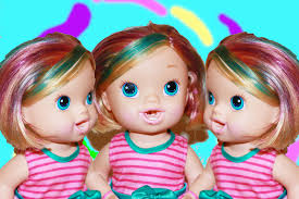 baby alive rainbow hair diy color hair dye markers baby doll