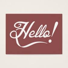 Social Network Business Card Cool Hello Greeting Social Networking Business Card Zazzle