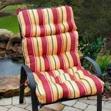 Patio Chairs With Cushions High Back Patio Cushions Foter