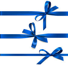 white and blue bows set of beautiful decorative bows with horizontal ribbon for gift