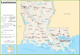 Map Of New Orleans Area by Louisiana Highway Map