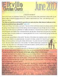newsletter elkville christian church
