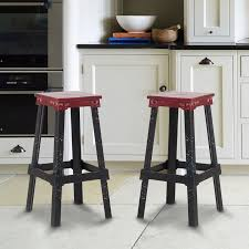 Industrial Metal Bar Stool Red Industrial Metal Bar Stool Ch0277 1