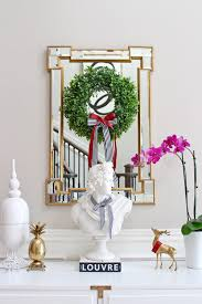 Decorating Narrow Entryway How To Decorate A Narrow Entryway For The Holidays Helena Alkhas