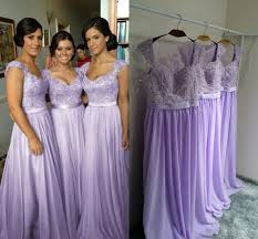 lilac dresses for weddings real image purple lilac lavender bridesmaid dresses a line