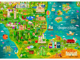 Map Of Oz Aircraft Disney Company Castles Text Alice In Wonderland Beds