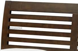 Santiago Bed Frame Santiago Wenge Wooden Bed Frame 5ft Kingsize