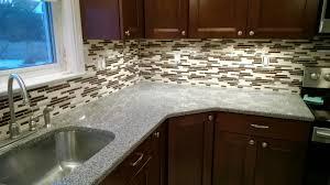 mosaic kitchen backsplash natural brown crackle pattern glass mosaic tile sle copper tiles
