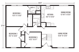 ranch floor plans plain design raised ranch house plans floor 946 to 1144 home
