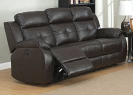 Power Recliners Sofa Ac Pacific Troy Collection Modern Upholstered Leather