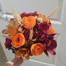 denver florist fall wedding flowers orange flowers paper flower bouquet denver