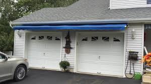 Building Awning Over Door Retractable Awning Over Garage Doors Long Beach Twp Nj Lbi Youtube