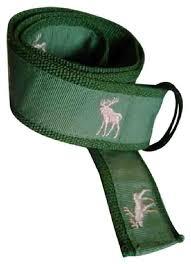 grosgrain ribbon belt olive green pink with embroidered deer on grosgrain ribbon belt