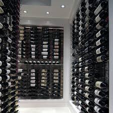 vintage view wall mounted wine rack black 4ft 36 bottle