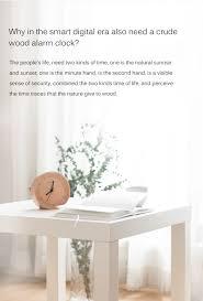 original xiaomi mute logs wooden alarm clock about time quality