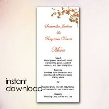 diy wedding menu template instant download by cheapobride on etsy