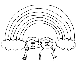 rainbow coloring pages rainbow pot of gold sun and clouds coloring