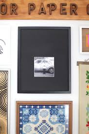 cut a bold photo mat for a t v gallery wall making nice in the
