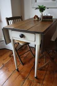 Pine Drop Leaf Table And Chairs Restored Vintage Drop Leaf Table With Castors And By Arthurandede